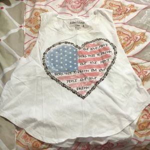 Heart American Flag Crop top tank